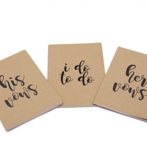 His and Her Vows and I Do To Do Notebook Set