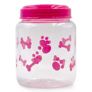 Pet Treat Jar Pink