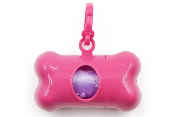 Doggy Bag Holder Pink Leash