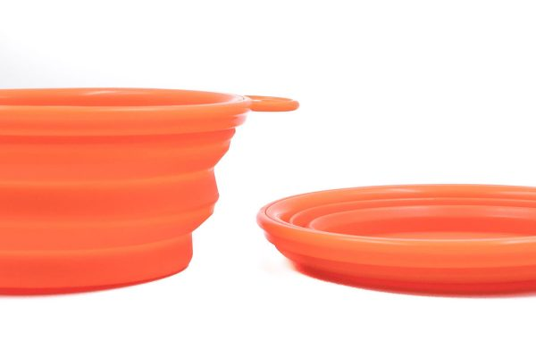 Collapsible Pet Dish Orange