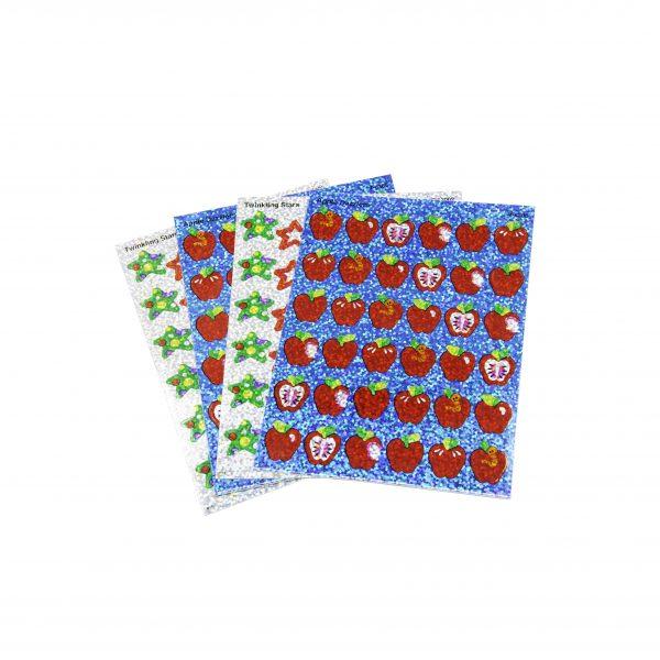 Apple and Star Teacher Stickers