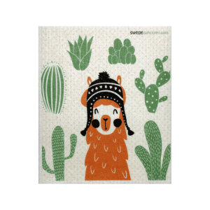 llama eco-friendly dishcloth