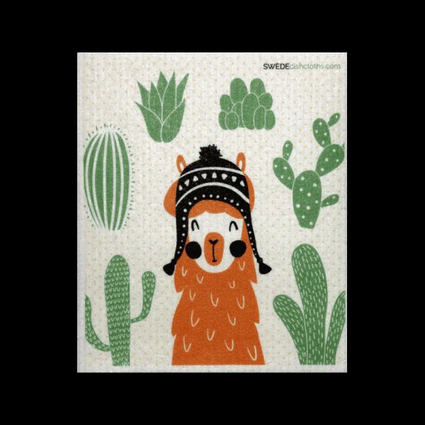 llama eco-friendly dishcloth