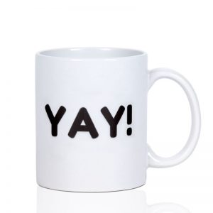 Mug with Yay! text