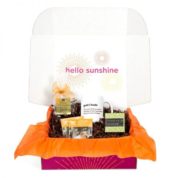 Thanksgiving Box with Chocolate and Tea