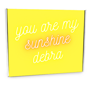 You Are My Sunshine Custom Gift Box