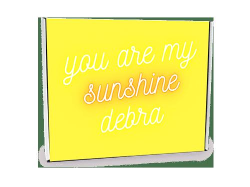 You Are My Sunshine Custom Gift Box